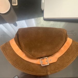 Coach Suede and Vachetta Leather Bucket Hat